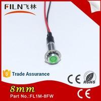 6mm 8mm 10mm high voltage 220v green led turn on pilot indicator light water heater