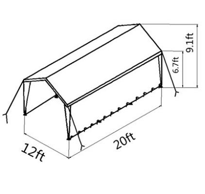 12 x 20-Feet Heavy Duty Carport, Car Canopy Shelter with 2 Removable Side Panels and 8 Steel Legs, White