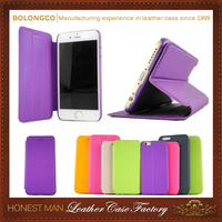 Colorful strong magnetic leather cover for iphone 5c case wholesale