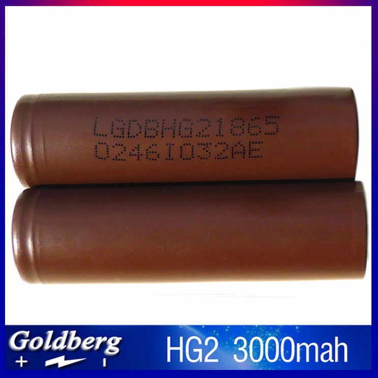 Good feedback LG HG2 high capacity 18650 li-ion rechargeable battery vape LG HG2 battery