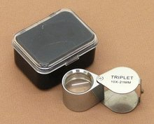 Magnifier Loupe 10X Magnification Jewelers 21 mm Diameter with plastic gift box