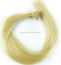 sexy hot Brazilian human hair double drawn kreatin prebonded human hair extensions