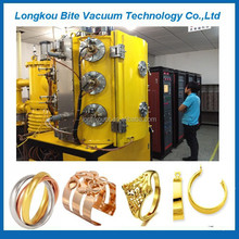 automatic bangles golden vacuum coating/bracelets pvd metalizing machine/color vacuum coating plant for jewelry