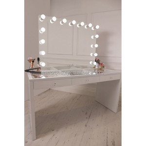 bedroom Makeup station vanity table with mirror with drawers