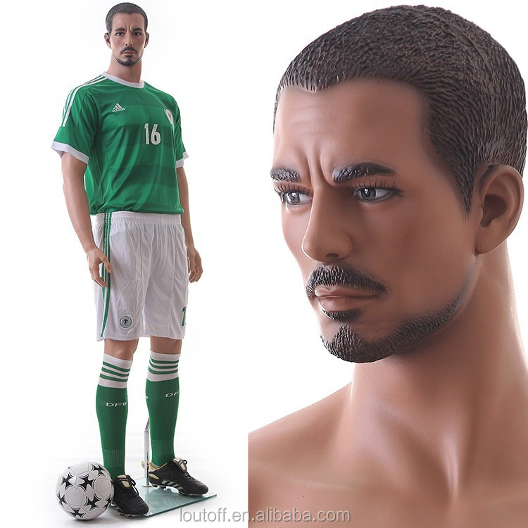strong make up football sports male mannequin for window display