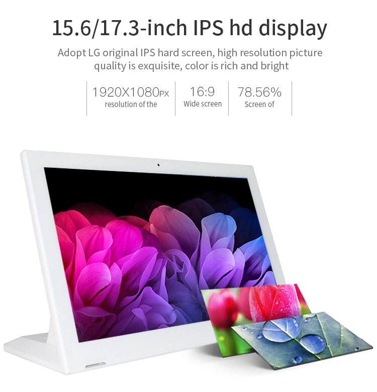 17.3 inch / 15.6 inch Desktop Android tablet pc POS NFC kiosk advertising IPS HD display