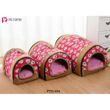 2 IN 1 Pet Cave Dog Bed Tent Kennel Cushion Handbag Sleeping Mat Houses