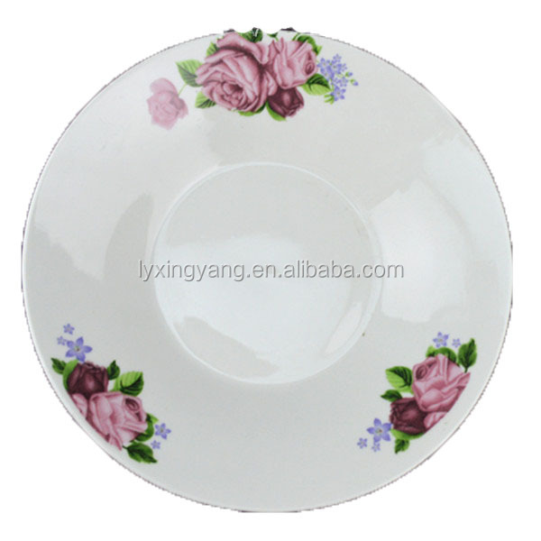 various certificates wholesale ceramic plate, cheap porcelain plate,dinner plates serving dishes with flower decal