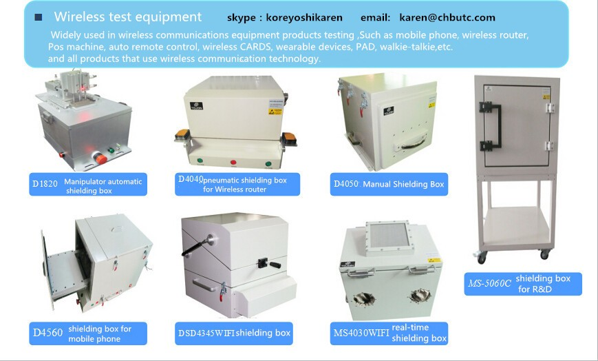 high quailty drawer type wireless RF shied test enclosures -ideal ...