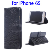 alibaba trade manager PU Leather wallet flip cover case for iPhone 6S made in China