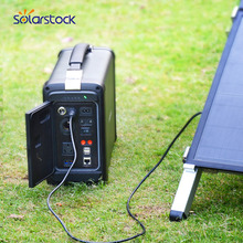 500W Portable AC DC Camping Solar Power Kit with the Lithium -ion Battery