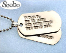 Aluminum Engraving Laser Qr Code Dog Tag With Custom Logo