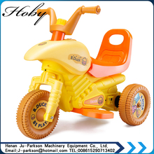 8015 Mini Motorcycle Toy Design Baby Plastic Electric Motorcycle New Cool Baby Toy Three Wheels Car
