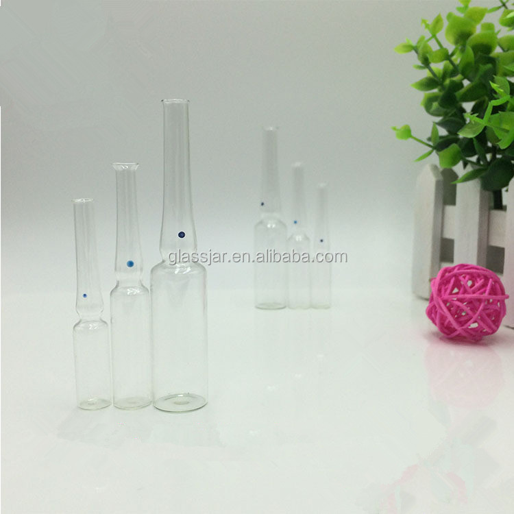 Fancy glass vial bottles injection glass ampoules vial