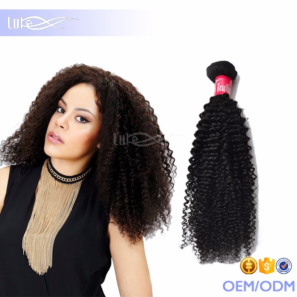 Hair Extension Type and kinky Wave Style 100% human natural brazilian hair weave
