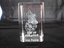 3d laser Crystal engraving gift for promotion or christian