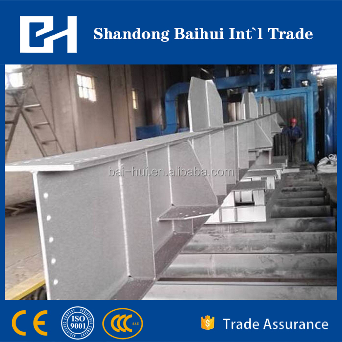 Steel plate and H beam shot blasting machine from China gold supplier