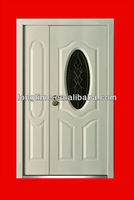 GLASS steel door(LT-076F)security door with glass