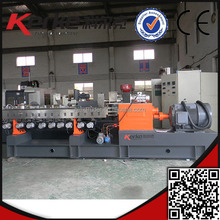 Latest parallel twin screw extruding plastic filler pelletizer machine