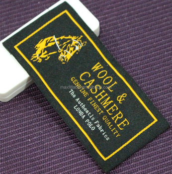 Woven Fabric Custom Woven Label Woven Damask Clothes Label for Clothing