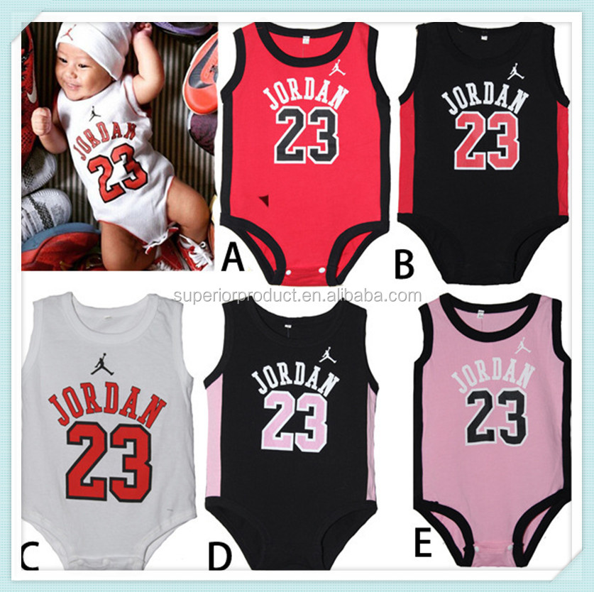 Summer Newborn Infantil Vest Romper, New Infant clothing Thin sport cotton Baby jordan Coverall Baby clothes