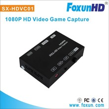 HD video capture SX-HDVC01 H.264 encoder 1080p video game recorder with dual audio channel