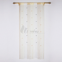 Beaded gold metal living room string curtain fabric