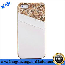 2014 alibaba China leather phone case for iPhone 5 5s with back card holder