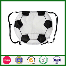 Promotional custom mini football earth drawstring bag