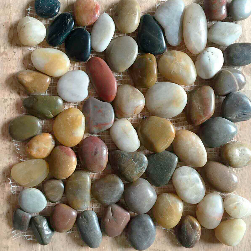 2017 New style colorful paving pebble stone