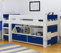 Modern Appearance Commercial Use Wooden Kid Bunk Bed with Drawers SF-M01B