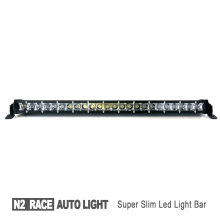 Factory direct sell led car roof rack light bar very thin car led spot light 12v single row 5W*42pcs curved led bar
