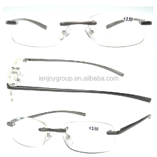 High quality new style slim Cheap Rimless reading glasses