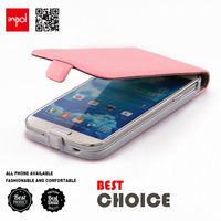 Shenzhen premium leather case magnetic flip cover fit for samsung galaxy s4