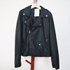 Fashion black plus size women leather clothing/leather jacket apparel