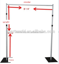 2018 adjustable aluminum pipe drape backdrop stand, wedding pipe and drape backdrop party event decoration (PD-001)
