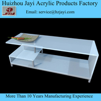 Acrylic lucite clear lcd tv table stand