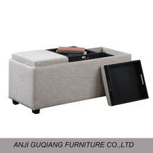 solid funitures home goods fabric storage ottoman GQ-112