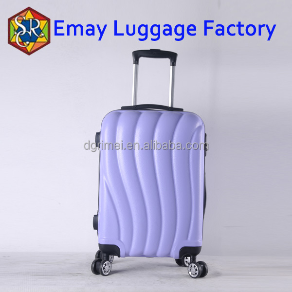 Travel time spinner abs pc aluminum trolley luggage