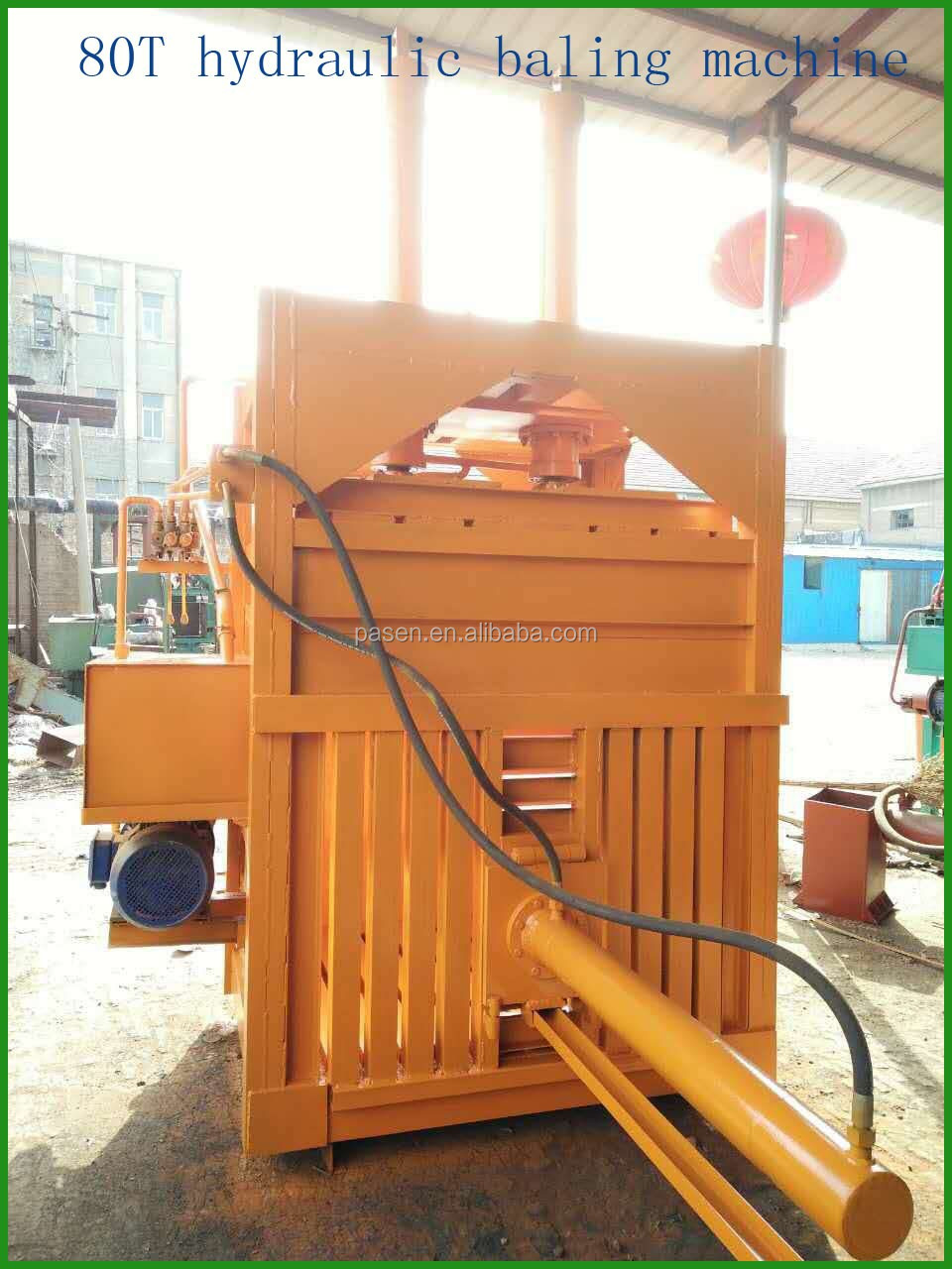 factory wholesale carton compress baler machine / plastic bottle baler machine / waste paper baler