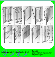 pictures used wrought iron railings and wood