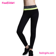 Wholesale waist band black thermal carnival tight yoga pants