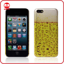 High Quality Beer Style Custom Brand Name OEM Design Hard PC Case for iphone 5c
