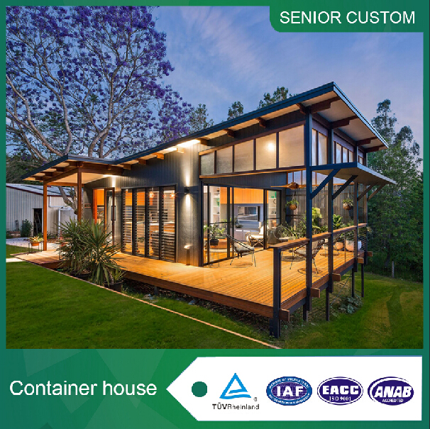 2017 low cost flat pack container house for office building