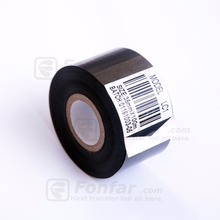 35mm * 100m LC1 Hot Stamping Coding Machine Used Black Thermal printer Ribbon Foil