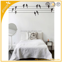 Removable vinyl home wall sticker/wall decal 3d art flying birds