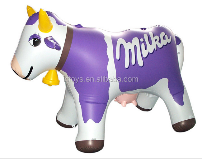 2016 Factory Price Large Inflatable Milk Cow model/ Inflatable Milka Cow