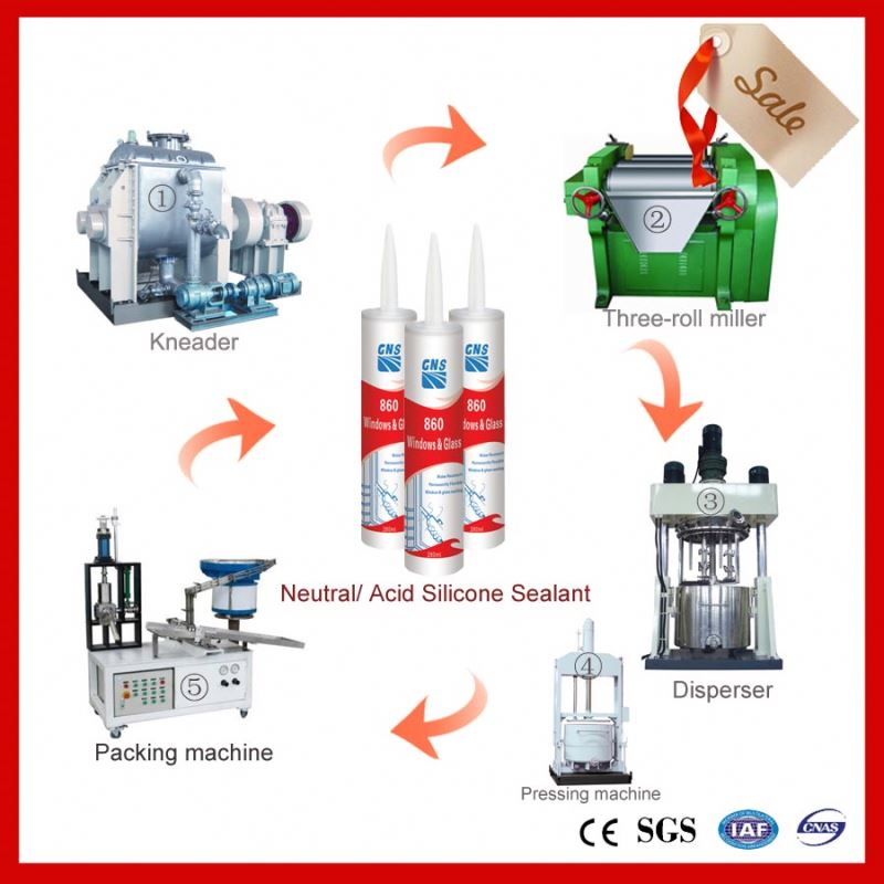 machine for water based acrylic sealing gum