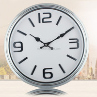 Silver Wall Clock China Fashion Clock 35x35cm