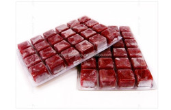 Frozen fish food, frozen blood worms, aquarium fish food